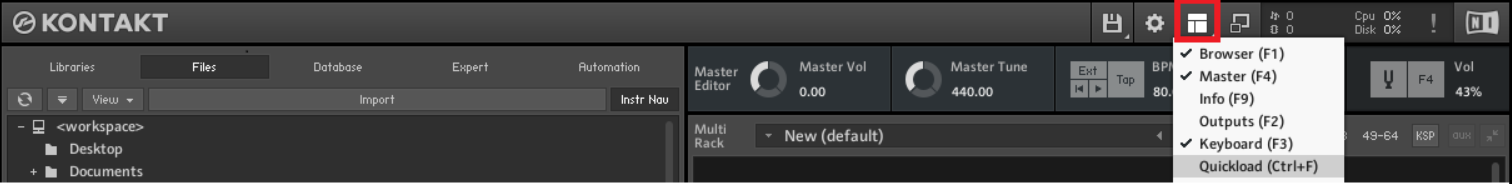 Hints and Tips 3: Creating a Quick Load Slot in Kontakt